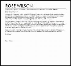 Early Childhood Cover Letter Early Childhood Teacher Cover Letter Sample Cover Letter