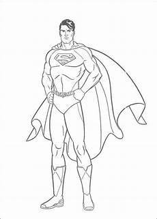 ausmalbild superman superman superhelden malvorlagen