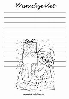 ausmalbilder wunschzettel weihnachtsmann