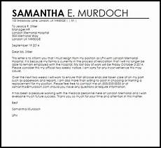 Cover Letter Example For Relocation Resignation Letter Example Due To Relocation Letter