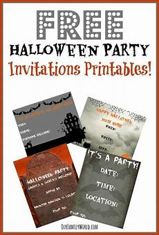 Costume Party Invitations Free Printable Free Halloween Party Invitation Printables