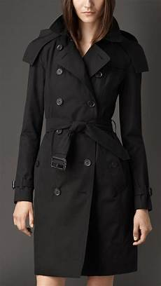 hooded trench coats for lyst burberry gabardine hooded trench coat with