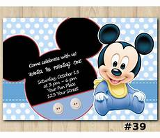 Custom Mickey Mouse Invitations Mickey Mouse Birthday Invitation Mickey Mouse Invitation