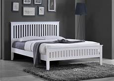 new white solid country wooden wood pine bed frame shaker