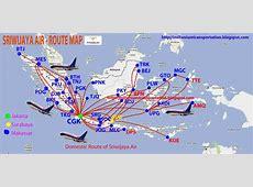 transportspot: Sriwijaya Air Route Map