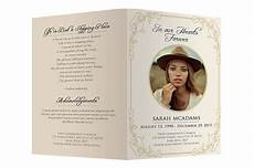 Memorial Pamphlet Template Free Funeral Program Template Brochure Templates Creative