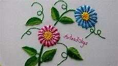 embroidery tailed stitch flowers