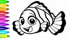 nemo clown fish coloring pages learn colors for