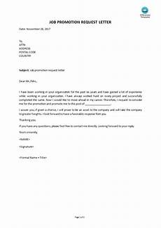 Requesting For Promotion Job Promotion Request Letters Templates At