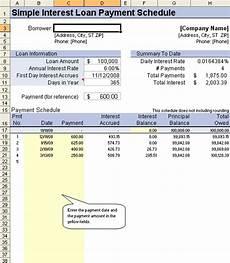 Simple Interest Car Loan Amortization Schedule Loan Amortization Schedule And Calculator