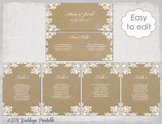 Template For Wedding Table Plan Seating Chart Template Quot Rustic Lace Quot Printable Seating