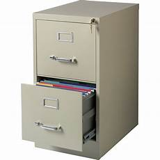 lorell commercial grade 2 drawer vertical file cabinet