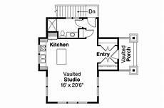 Floor Plan Car Craftsman House Plans Garage W Living 20 008