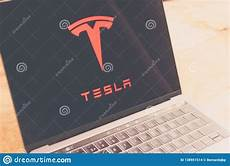 Tesla Motors Cover Letter Tesla Motors Logo On Computer Screen Editorial Stock Image
