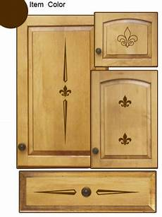 kitchen cabinet decals fleur theme contemporary wall