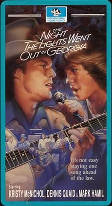 The Night The Lights Went Out In Georgia Movie Soundtrack The Night The Lights Went Out In Georgia Dvd 1981 Kristy Movie