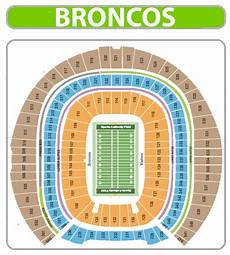 Broncos Seating Chart View Denver Broncos Seating Chart