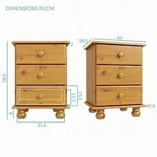 new hamilton 3 drawer bedside table cabinet storage unit