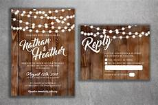 Rustic Country Wedding Invitations Country Wedding Invitations Set Printed Rustic Wedding