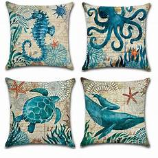 fox animal cushion cover cotton linen home decor cushion