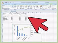 Using Vba To Create Charts In Excel How To Create A Pareto Chart In Ms Excel 2010 14 Steps
