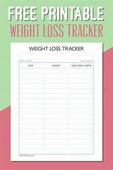 Weight Loss Charts To Print Pin On Freebies