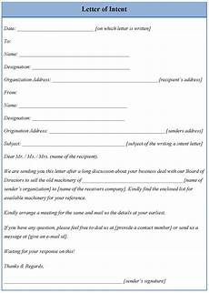 Letter Of Intent To Free Template For Letter Of Intent Full Version Free
