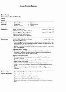 Work Resume Samples Modern Social Worker Resume Template Sample
