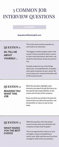 Interest Interview Questions 10 Common Job Interview Questions In English You Need To