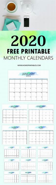 Printable Agenda Calendar 2020 Free 2020 Calendar Printable Simple And Very Pretty