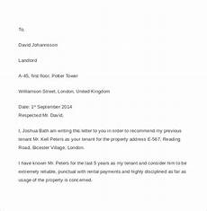Tenant Letter Of Recommendation Free 7 Tenant Reference Letter Templates In Pdf Ms Word