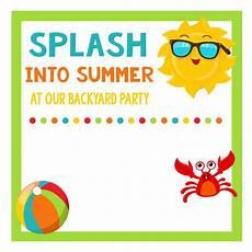 Summer Party Invites Splash Into Summer Party Invitations Amp Printables Fun