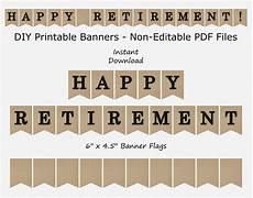 Happy Retirement Banner Printable Happy Retirement Banner Burlap Amp Black Retirment Party Etsy