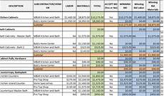 Construction Bid Template Free Excel Download The Itemized Bid Worksheet Excel Template For