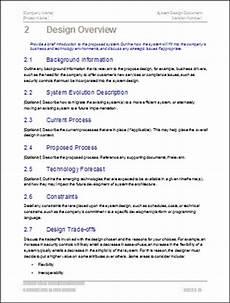 Application Design Document Sample System Design Document Templates Ms Word Excel