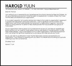 Public Policy Cover Letters Policy Advisor Cover Letter Sample Cover Letter