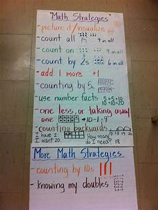 2nd Grade Math Strategies Anchor Chart Math Strategies Anchor Chart My Grade 1 2 Class Came Up