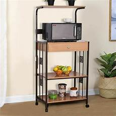 59 quot bakers rack microwave stand rolling kitchen storage