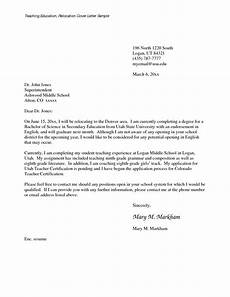 Cover Letter Example For Relocation Cover Letter With Relocation Examples How To Write A