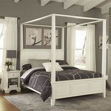 White Bed Canopy Home Styles Naples White King Canopy Bed 5530 610 The