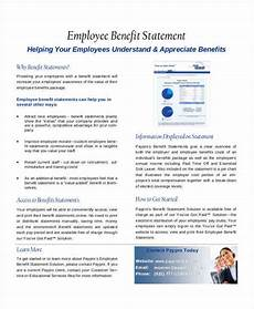Benefit Statement Free 29 Statement Samples Amp Templates In Pdf Ms Word
