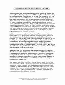 Personal Statement Essay Example For College Personal Statement Sample For Scholarship