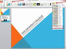 Powerpoit Themes Applying And Modifying Themes In Powerpoint 2010