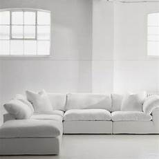 White Linen Sofa 3d Image by Truman Large Sectional Sofa In White Linen Andrew Martin