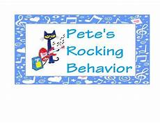 Cat Behavior Chart Pete The Cat Behavior Chart By The Learning Night Owls Tpt