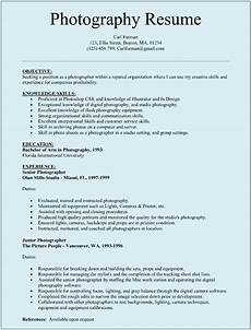 Printable Sample Resume Templates Photographer Resume Template For Microsoft Word Doc