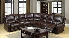 6559 brown reclining console sectional sofa furniture of
