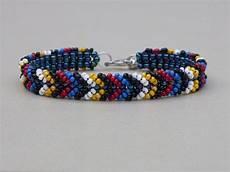 beadweaving seed bead bracelet american bracelet