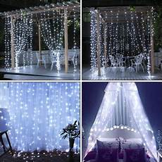 Led Light Curtains Sale Qedertek Curtain String Lights 306 Led Fairy Waterproof