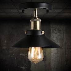 Costco Edison Light Fixture Vintage Black Ceiling Mount Light Chandelier Edison Lamp